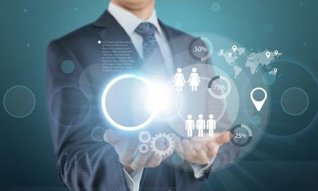 hightech: Business, concept, touch.
