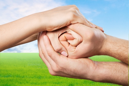 hold hands: Social, support, help.
