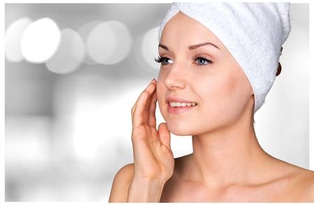 La microdermoabrasión, Peel, Tratamiento de belleza. Foto de archivo