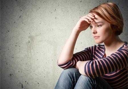 Depresión, Adolescente, Tristeza. Foto de archivo