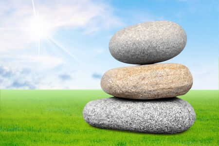 solid: Stone, solid, pile. Stock Photo