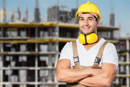 ouvrier: Travailleur, ingénieur, la production. Banque d'images