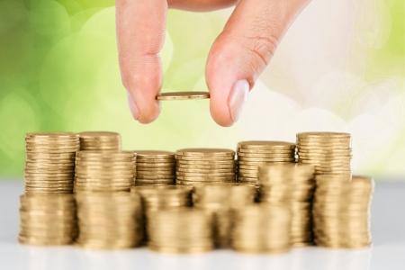 banco dinero: El dinero, ahorrar, pr�stamo. Foto de archivo