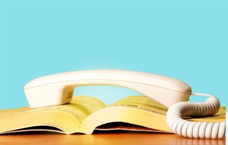 directorio telefonico: Directorio Telef�nico, P�ginas Amarillas, amarillo. Foto de archivo