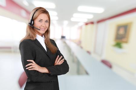 customer service representative: Customer Service Representative, Service, Telephone. Stock Photo