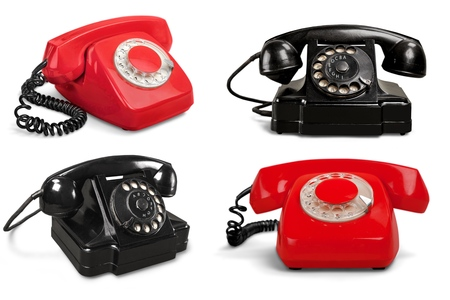 bakelite: Telephone, Old, Retro Revival.