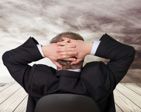succesful: Business, businessman, businessmen. Stock Photo