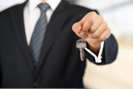 Real Estate, Key, House. Stock Photo