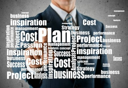 effectiveness: Roi, concept, effectiveness. Stock Photo