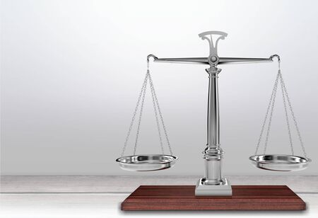 stability: Weight Scale, Law, Stability. Stock Photo