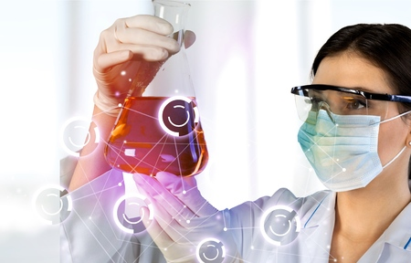 clinical: Lab, formula, flask.