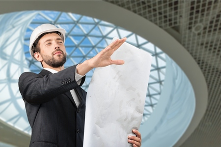 face work: Engineer, Construction, Architect. Stock Photo