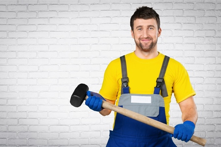 class maintenance: Manual Worker, Chinese Ethnicity, Factory. Stock Photo