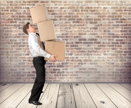 Box, Moving Office, Carrying.