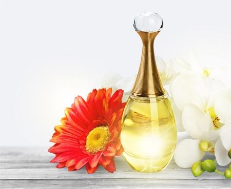 distillate: Perfume, Scented, Bottle. Stock Photo
