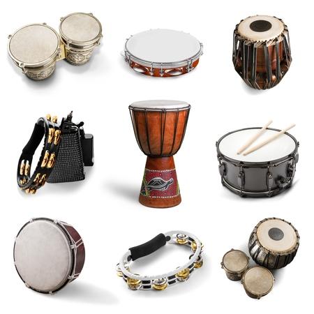 Tambor, Cultura africana, Instrumentos de percusión. Foto de archivo