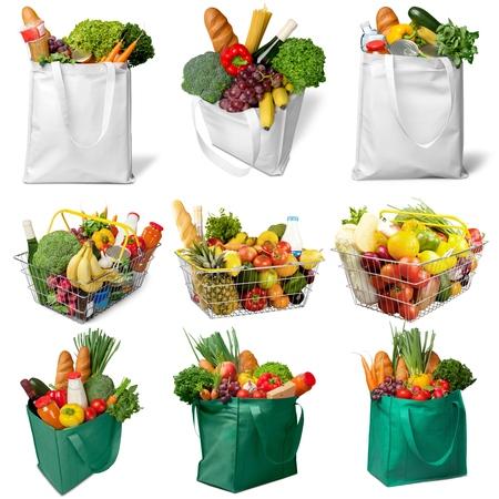 bolsa de pan: Comestibles, Bolsa de la compra, compras.