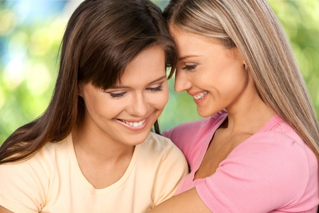 Lesbian, Homosexual Couple, Couple. Stock Photo