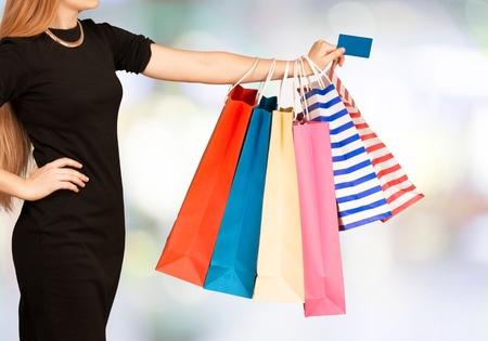 shopping card: Credit Card, Shopping Bag, Shopping. Stock Photo