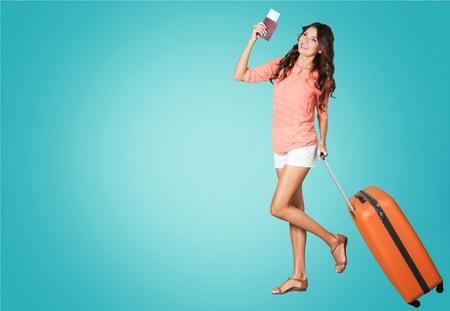 旅行の荷物、スーツケース。 写真素材