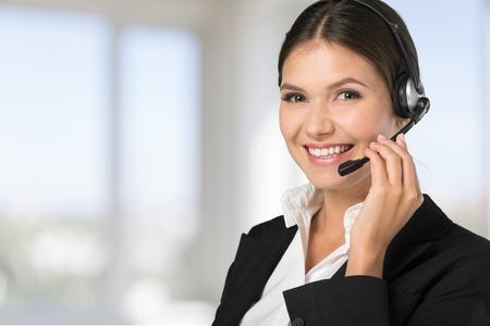 Customer, operator, helpdesk. Stock Photo