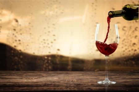 Wine, glass, red.