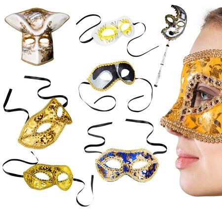 vestidos de epoca: Mascarilla, Disfraz, Máscara para fiestas.