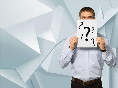 confundido: Signo de interrogación, Confusión, Misterio.