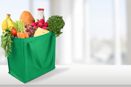 食料品、ショッピング、バッグ。 写真素材