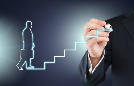 career development: Career, growth, rise.