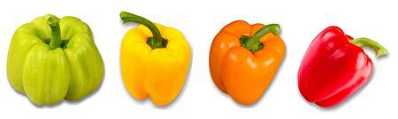 green pepper: Pepper, Green Bell Pepper, Bell Pepper. Stock Photo