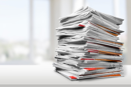 stack of documents: Document, Paper, File.
