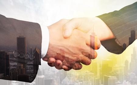 Business, shake, hand. Stockfoto