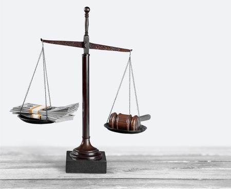 Weight Scale, Currency, Gavel.