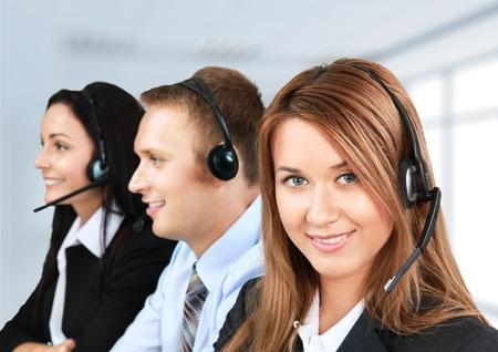 Service, représentant du service à la clientèle, Call Center.