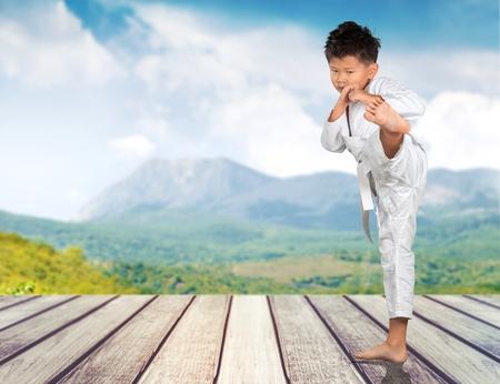 tae: Karate, Child, Tae Kwon Do. Stock Photo