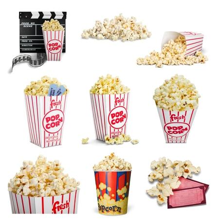 concession: Popcorn, Movie Ticket, Ticket.