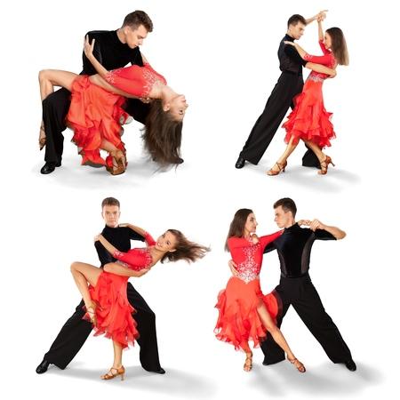 サルサ踊る、ダンサー。