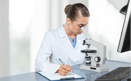 rd: Microscope, Laboratory, Research. Stock Photo