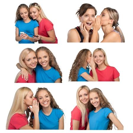 whispering: Whispering, Women, Friendship.