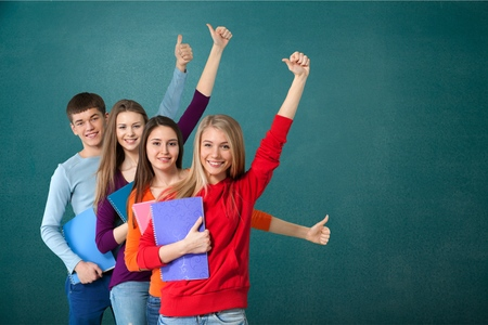 young students: Student, High School Student, College Student. Stock Photo