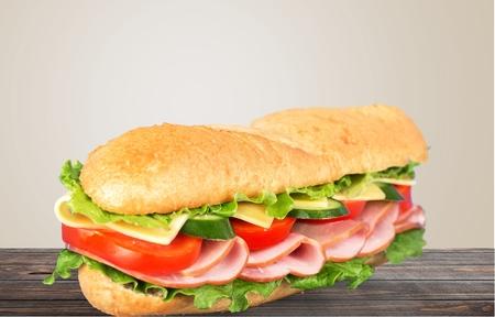 crusty french bread: Sandwich, bread, sub.