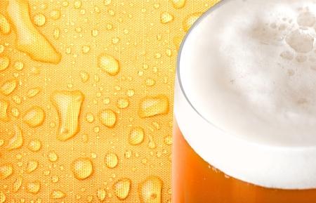 single beer: Beer, Beer Glass, Wheat Beer. Stock Photo