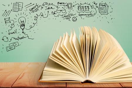 Boek, concept, school. Stockfoto