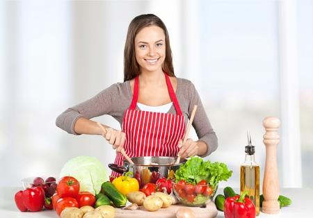 Koken, Kind, gezond eten. Stockfoto