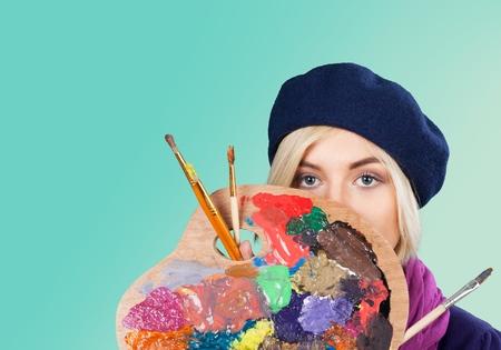 creativity artist: Art�stico, artista, pintura. Foto de archivo
