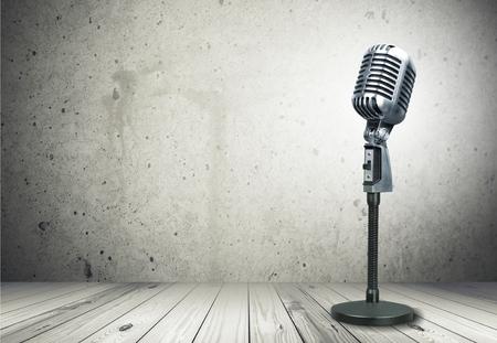 Microphone, radio, mic. Stock Photo