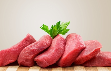 butchered: Meat, Steak, Raw. Stock Photo