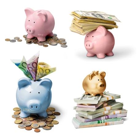 canadian dollar: Piggy, bank, money.