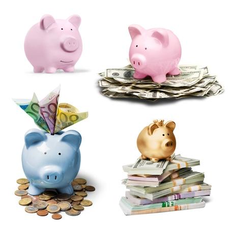 canadian coin: Piggy, bank, money.